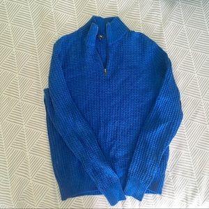 👔Gap blue waffle knit dress sweater